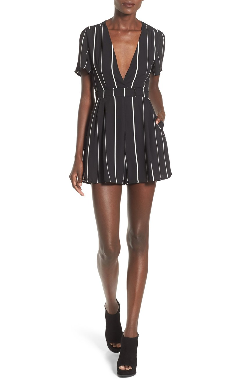 ASTR  Stripe Romper. Nordstrom. Was: $74 Now: $48.