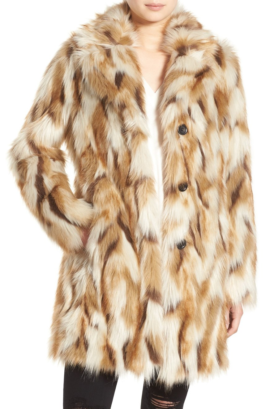 7 for All Mankind Faux Fur Coat. Nordstrom. Now: $229 Will be: $348.