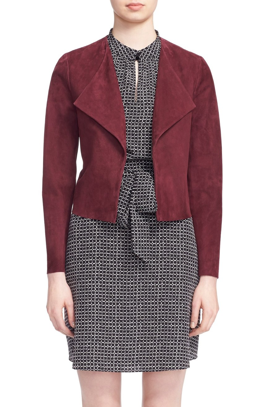 kate spade new york draped suede jacket. Nordstrom. Now: $538 Will be: $898.