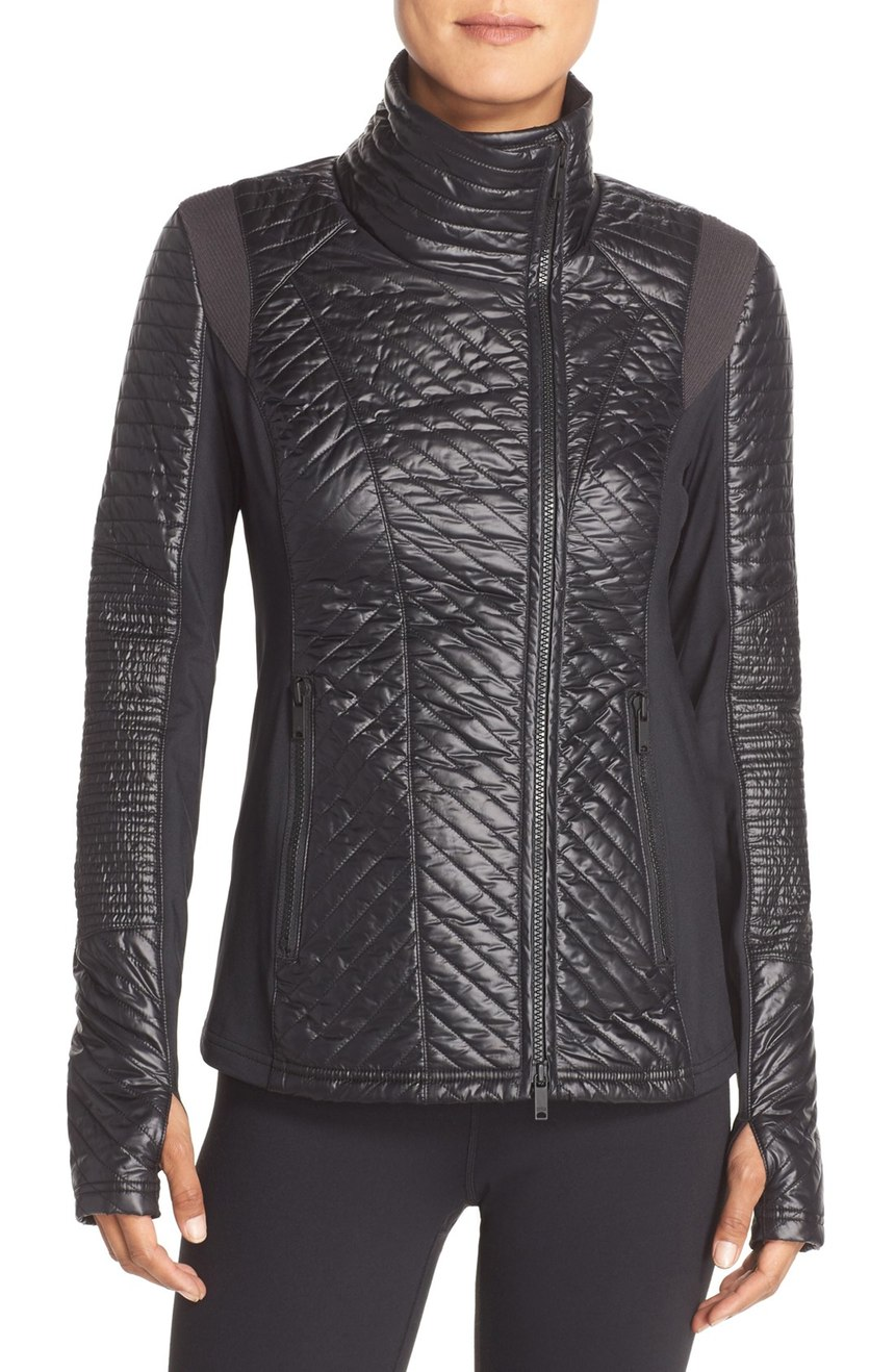 Zella   Double Breasted Quilted Jacket. Nordstrom. Now: $118 Will be: $178.