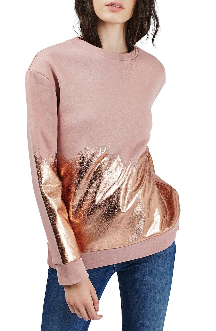 Topshop  Foil Brushed Sweatshirt. Nordstrom. Now: $39 Will be: $60.