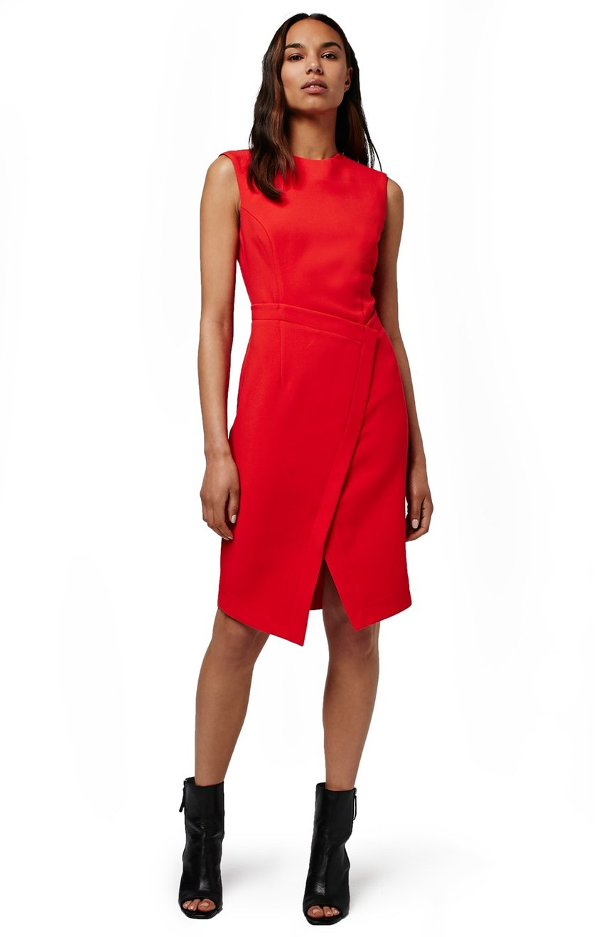 Topshop  Faux Wrap Front Midi Dress. Nordstrom. Now: $79. Will be: $125.