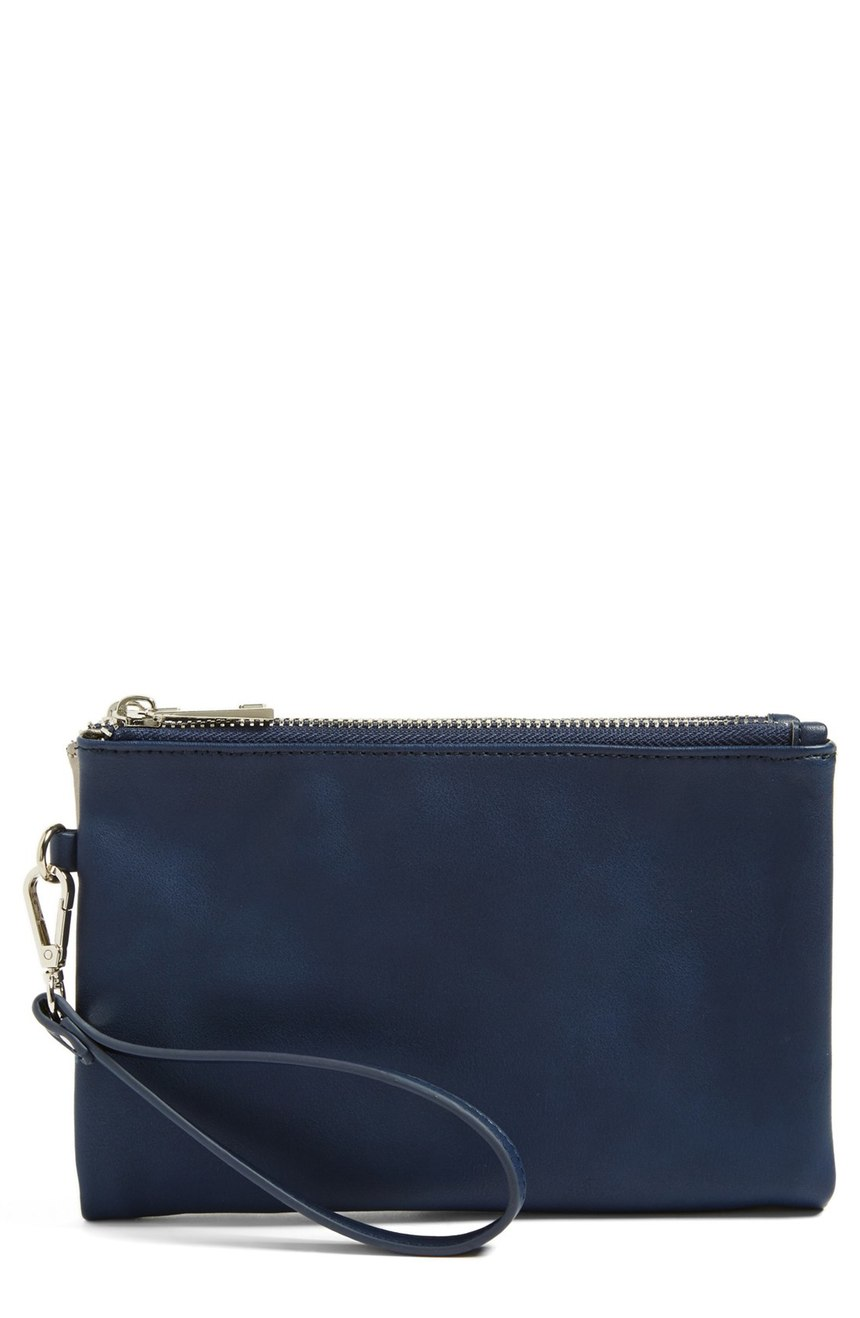 Phase 3  Reversible Wristlet Clutch. Available in three colors. Nordstrom. Now: $23. Will be: $49.