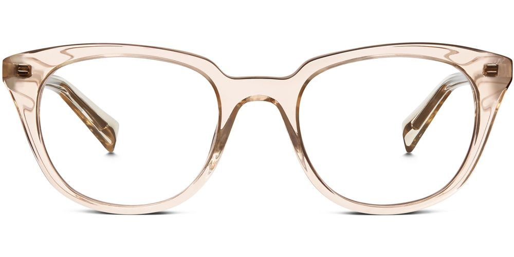 Chelsea Eyeglasses in Grapefruit Soda. Two colors available. Warby Parker. Starting at $95.