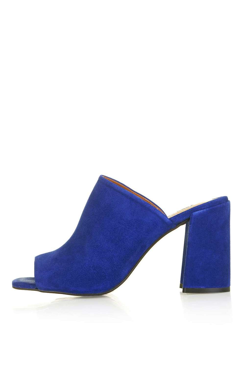 RULER Flared Heel Peep Toe Mules. Available in multiple colors. Topshop. $110.