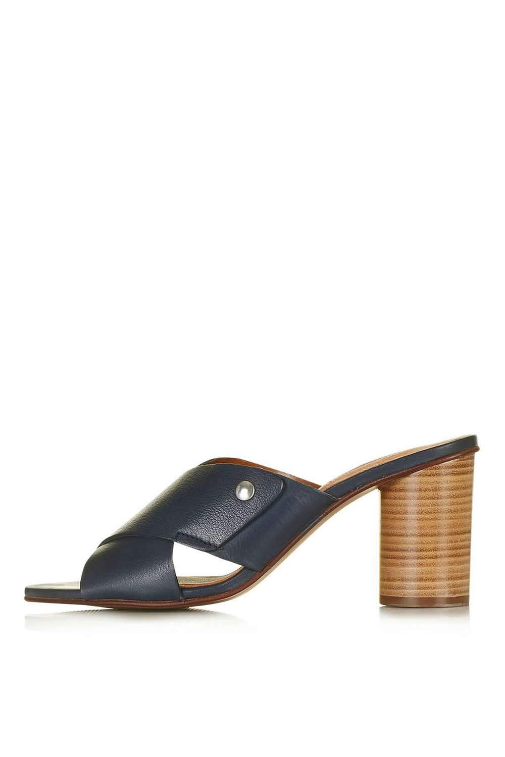 NATIVE Cross Strap Mules. (Navy!). Topshop. $125.