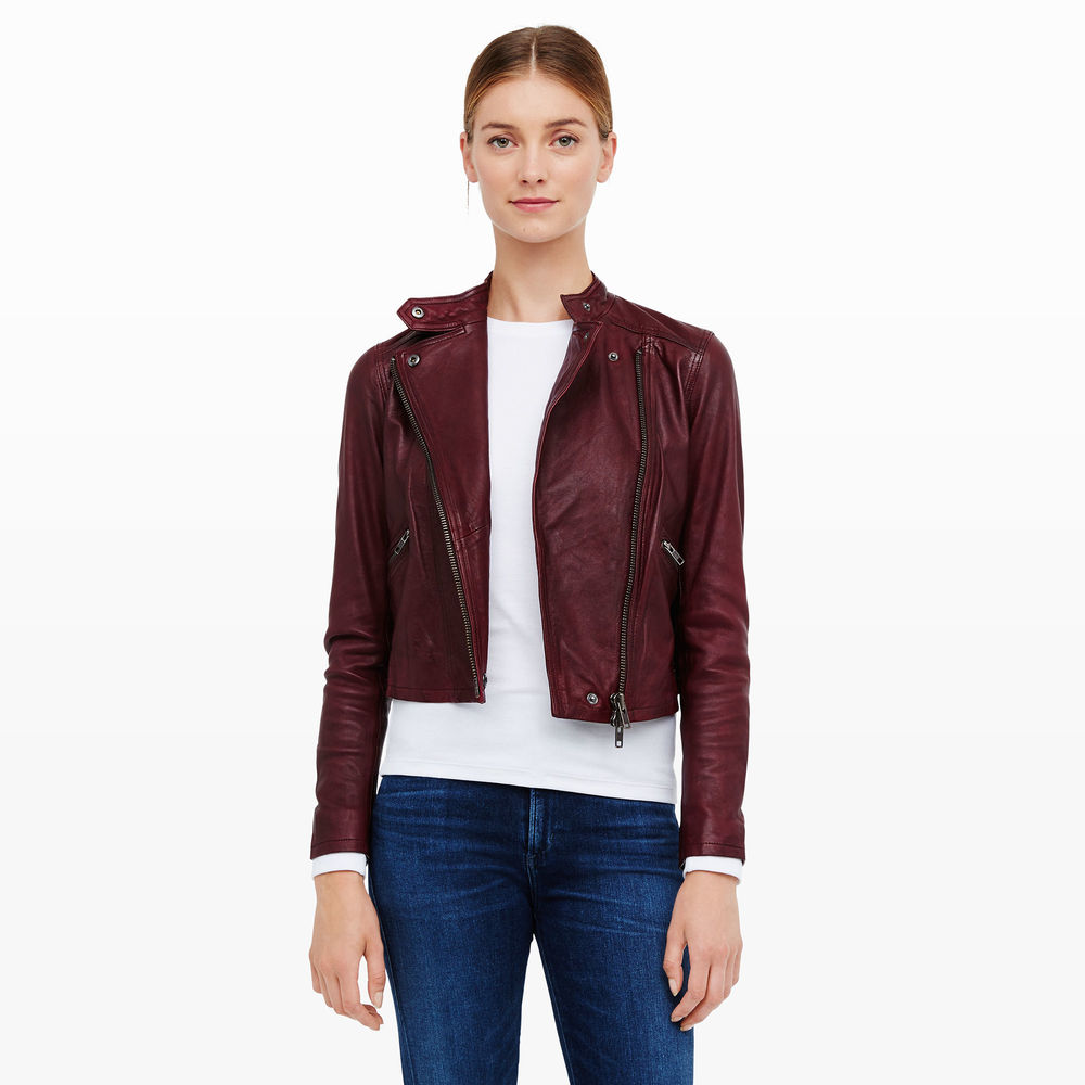 Rowlen Leather Jacket. Club Monaco. $595. (Jackets are one item that can easily trip you up. Trends in fit change relatively quickly. Make sure your jacket style is flattering AND current. )
