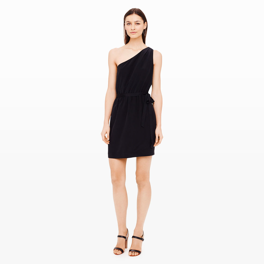 Logan Silk Dress. Club Monaco. Was: $198 Now: $139. Additional 40% off with code: August. (Of the moment trends are a great place to look for sales. The cold shoulder is just right for Fall 2016 and beyond. But, you'll likely find that this dress may not stand the test of time, despite great quality. However, when the style feels outdated, just toss a sweater or jacket over top and transform it into a skirt. Perfect choice for a sale!)