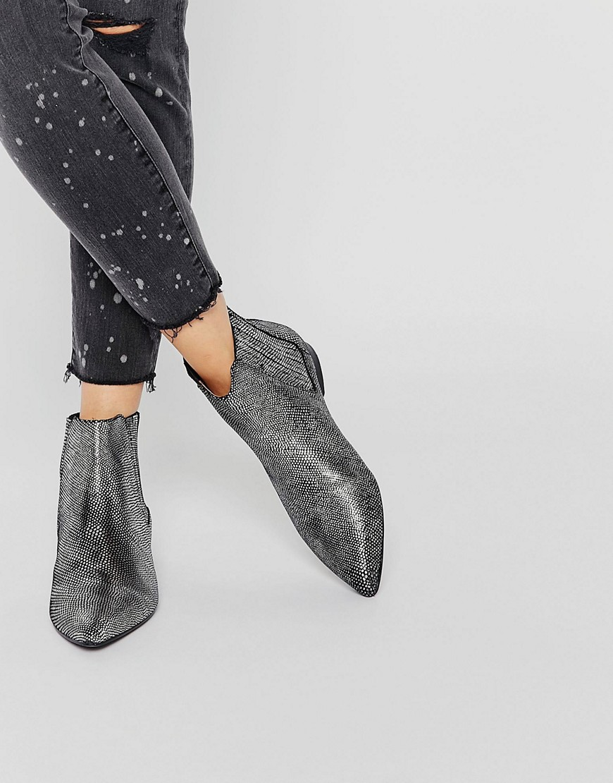Hudson London Silver Lizard Reine Ankle Boot. ASOS. $261.