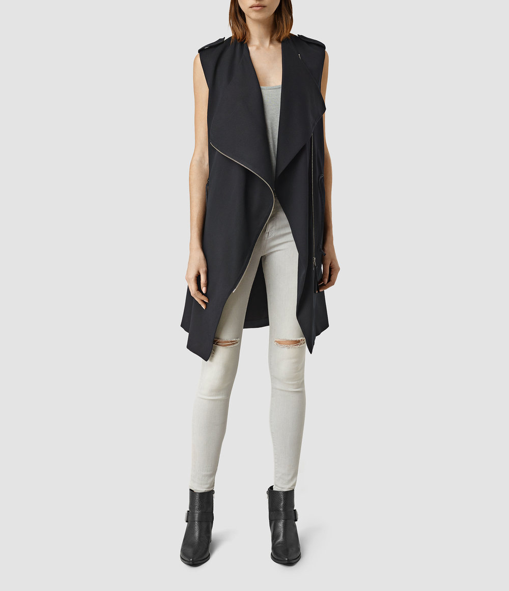 Ellaria Sleeveless Coat. All Saints. $415.