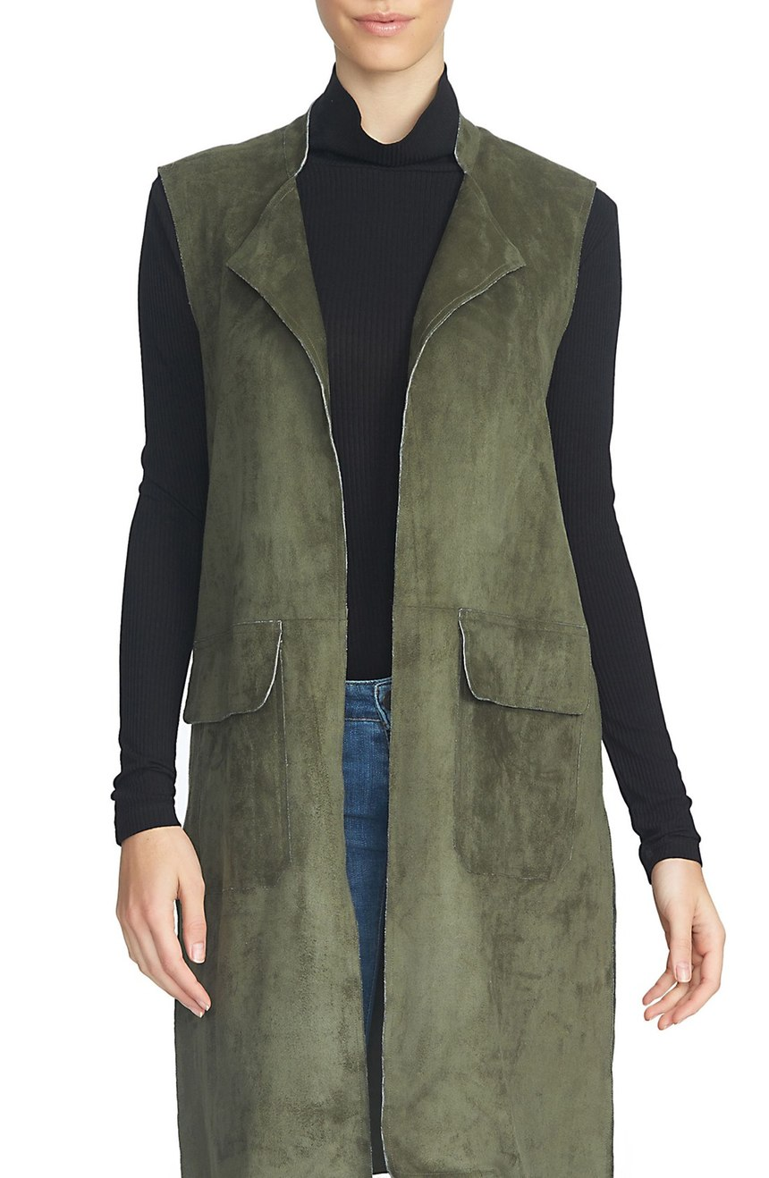 STATE Longline Faux Suede Vest. Nordstrom. $159.