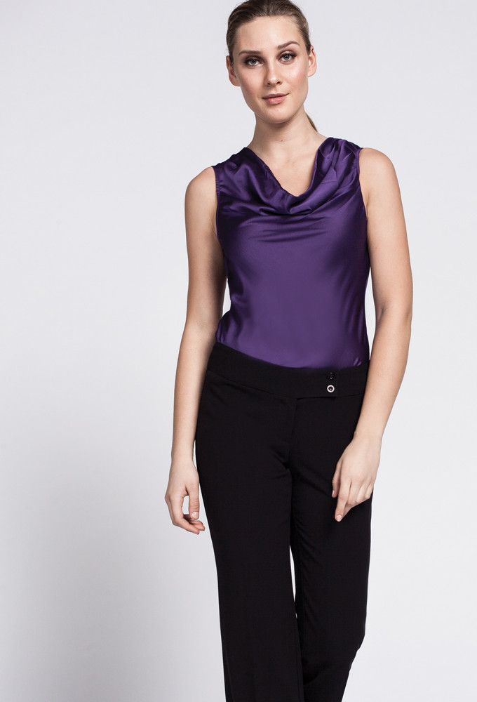 BRISA COWL NECK BLOUSE. Available in multiple colors including amethyst. $48.