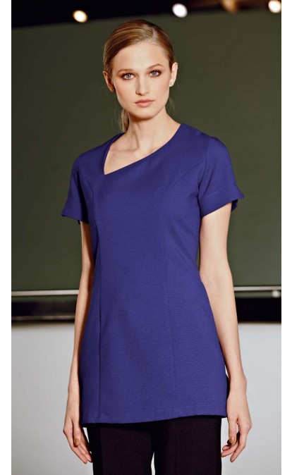 Scooped Angle Neckline Tunic. Available in multiple colors including purple. Simon Jersey. $36.