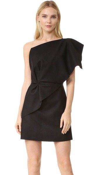 Jacquemus    One Shoulder Ruffle Dress. Shopbop. Was: $500. Now: $350.