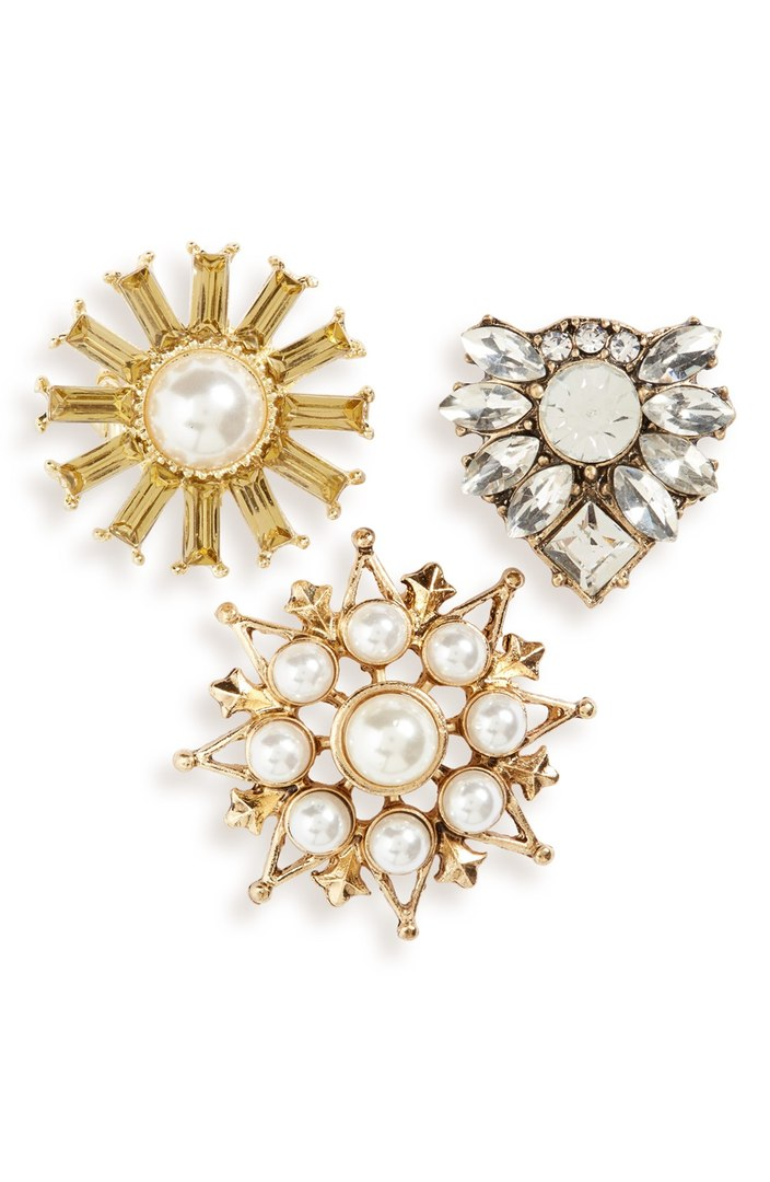 Leith Set of 3 Faux Pearl Floral Brooches. Nordstrom. $19.