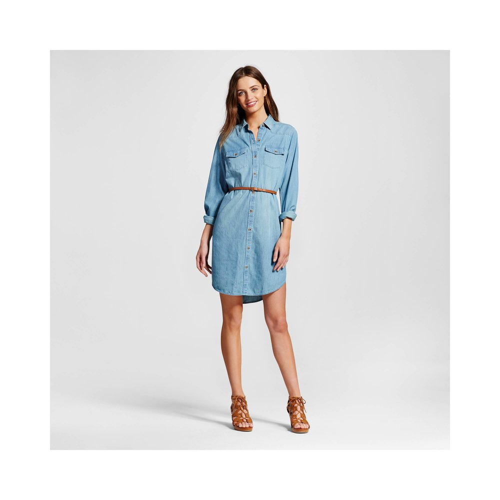 Denim Shirt Dress. Available in two washes. Target. $29.