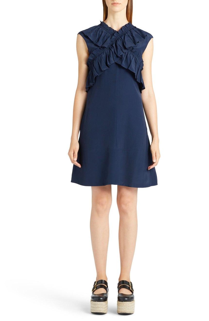 Marni Criss Cross Ruffle Dress. Nordtrom. $1150.