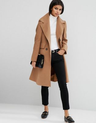 ASOS Wool Blend Skater Coat with Raw Edges. ASOS. $113.