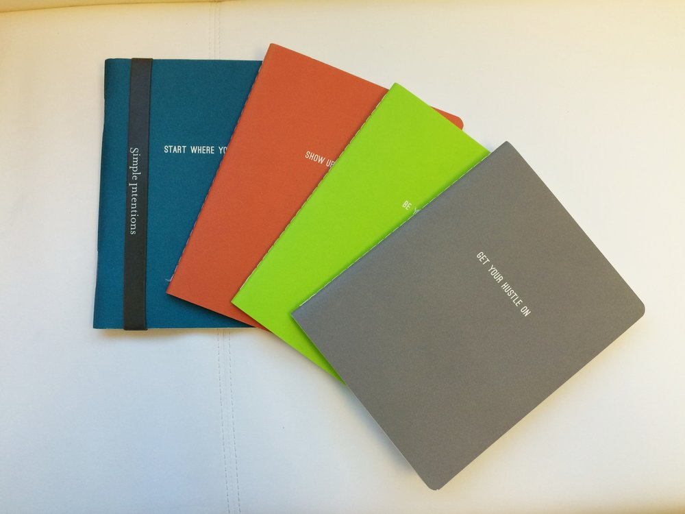 Lined Notebooks by Simple Intentions. $8 each.