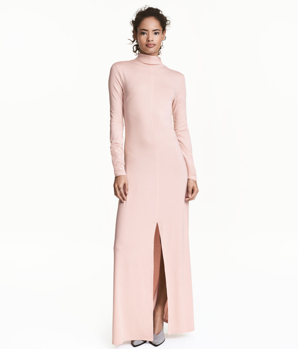 Mock Turtleneck Maxi Dress. Available in pink, black. H&M. $29.