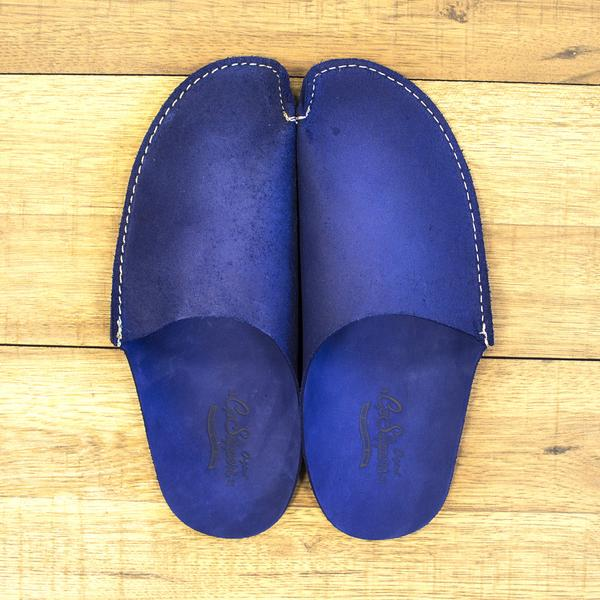 Blue Leather Slippers. Available in multiple colors. CP Slippers. $37.50.