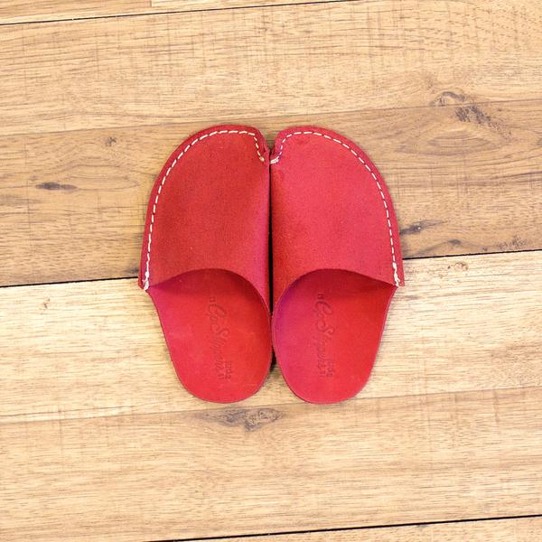 Red Leather Kids Slipper. Available in multiple colors. CP Slippers. $21.50.
