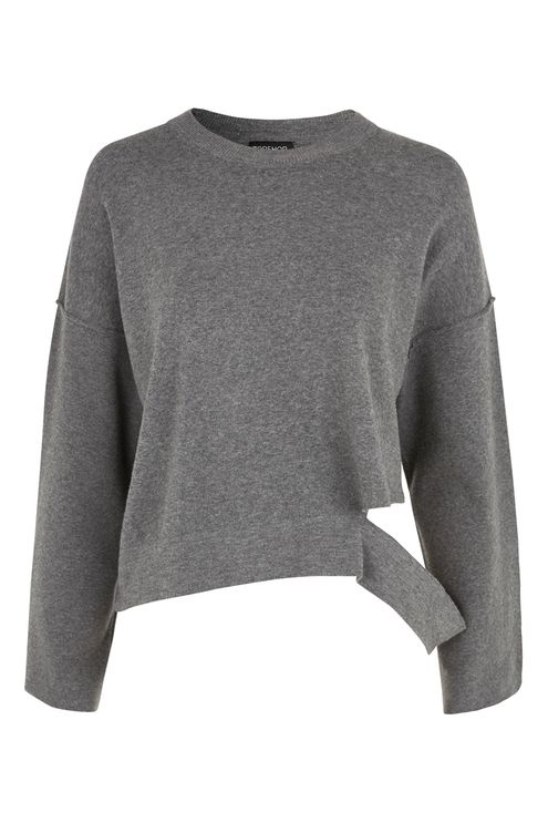 Disconnected Hem Knitted Sweatshirt. Topshop. $68.