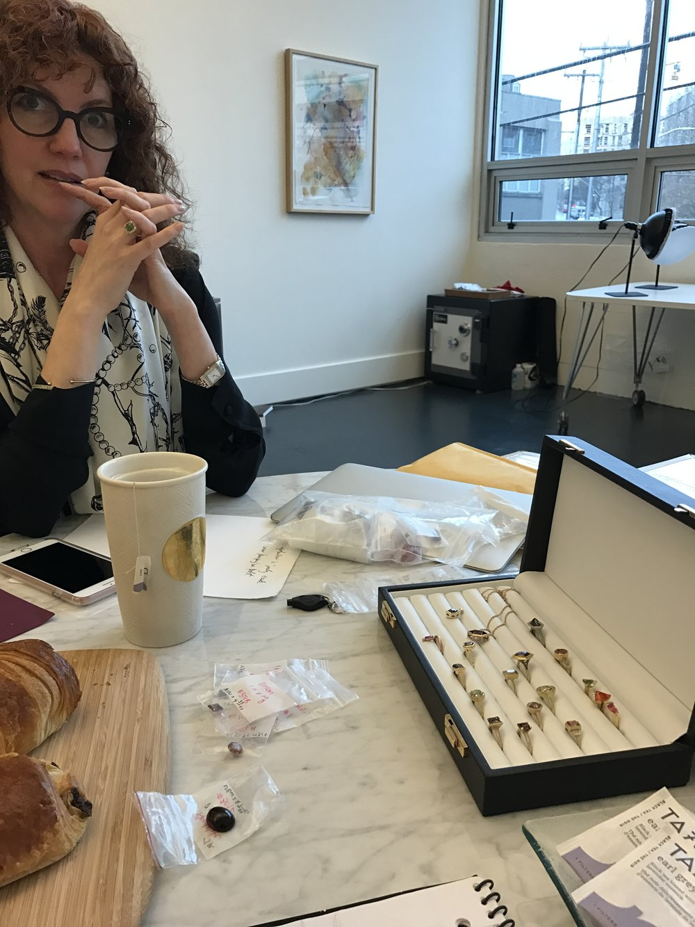 Tea, french pastries and gemstones with the powerhouse behind idazzle &  Anza Gems , Monica Stephenson.