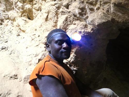 A miner in Kenya.