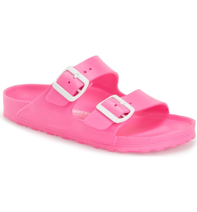 Birkenstock Arizona Slide Sandal. Available in multiple colors. Nordstrom. $34. (LOVE this as a house shoe or for the beach.)