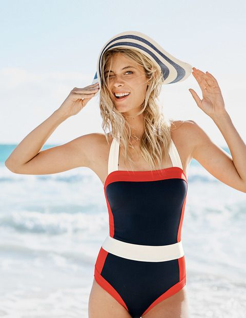 SANTORINI SWIMSUIT. Available in multiple colors, prints. Boden. $90.
