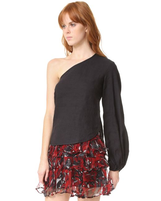 Georgia Alice  + One Shoulder Balloon Shirt. SHOPBOP. Was: $329. Now: $98. FINAL SALE.
