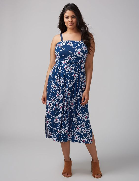 CONVERTIBLE MIDI DRESS. Available in multiple colors, prints. Lane Bryant. $59. Additional 40% off with code: SALEYEAH.