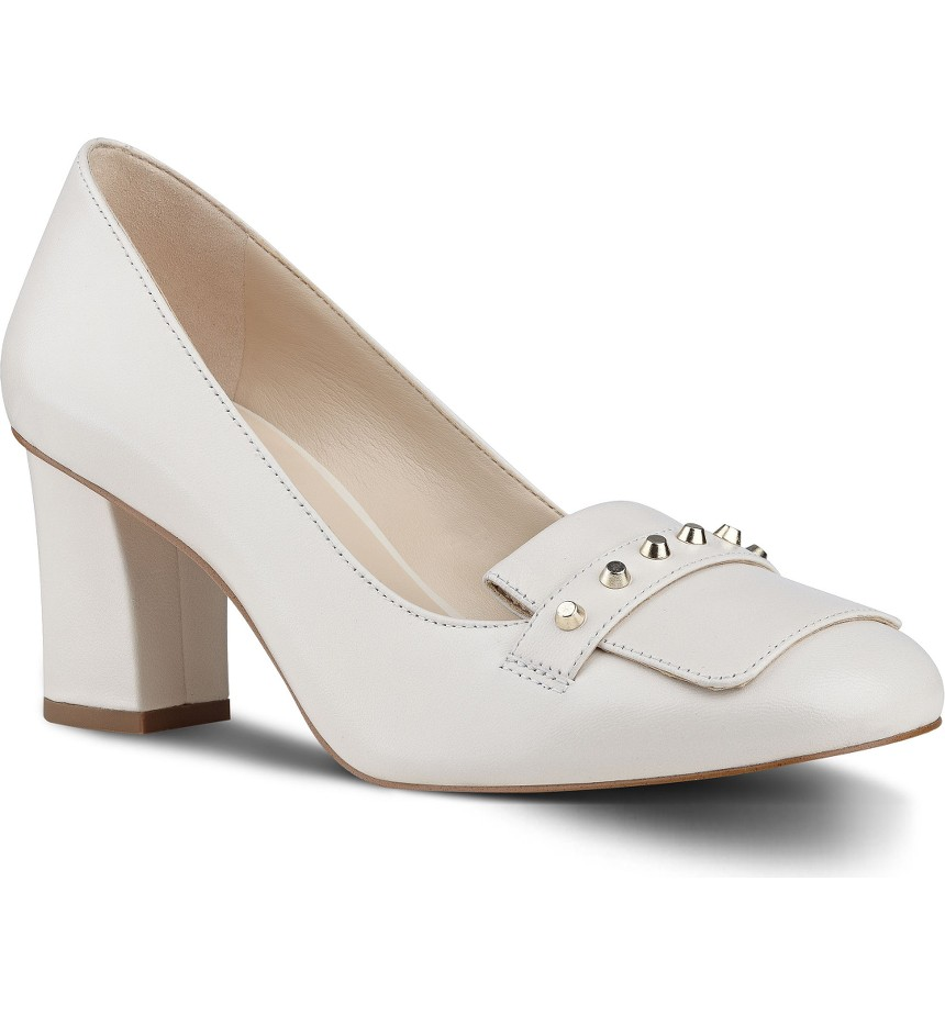 Nine West Ulyssah Block Heel Pump. Available in off white, black. Nordstrom. Was: $88. Now: $79.