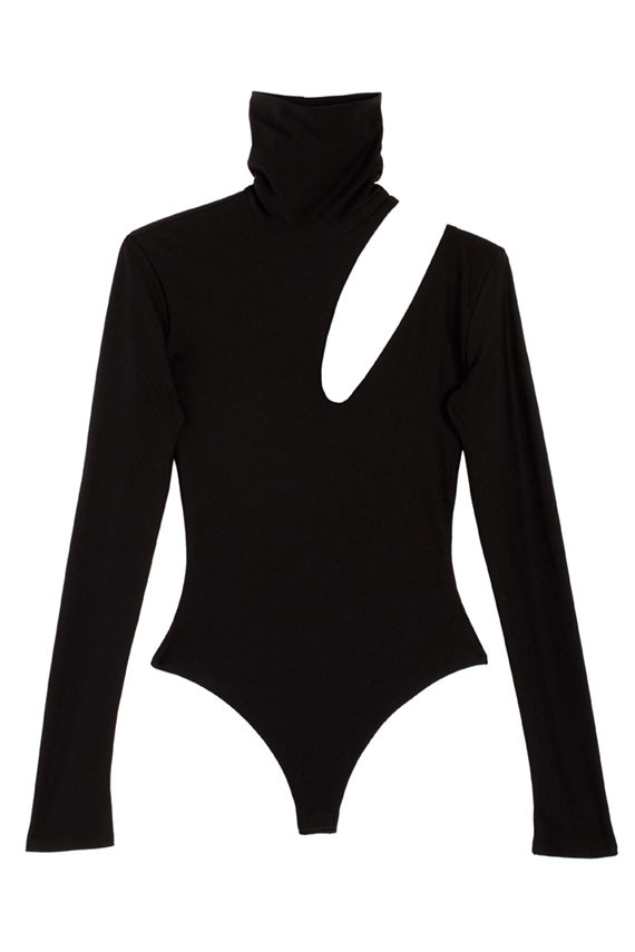 ALIX  BLACK HOUSTON BODYSUIT. Bona Drag. $225. (I've been obsessed with this piece for over a year.)