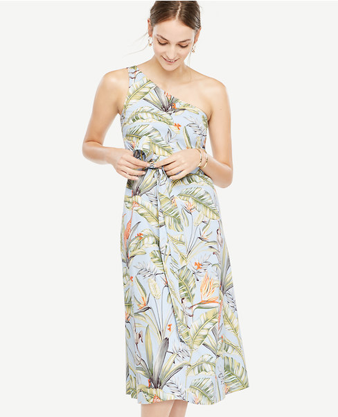 Tropical One Shoulder Dress. Ann Taylor. Was: $149. Now: $79. 40% off with code: PSST.