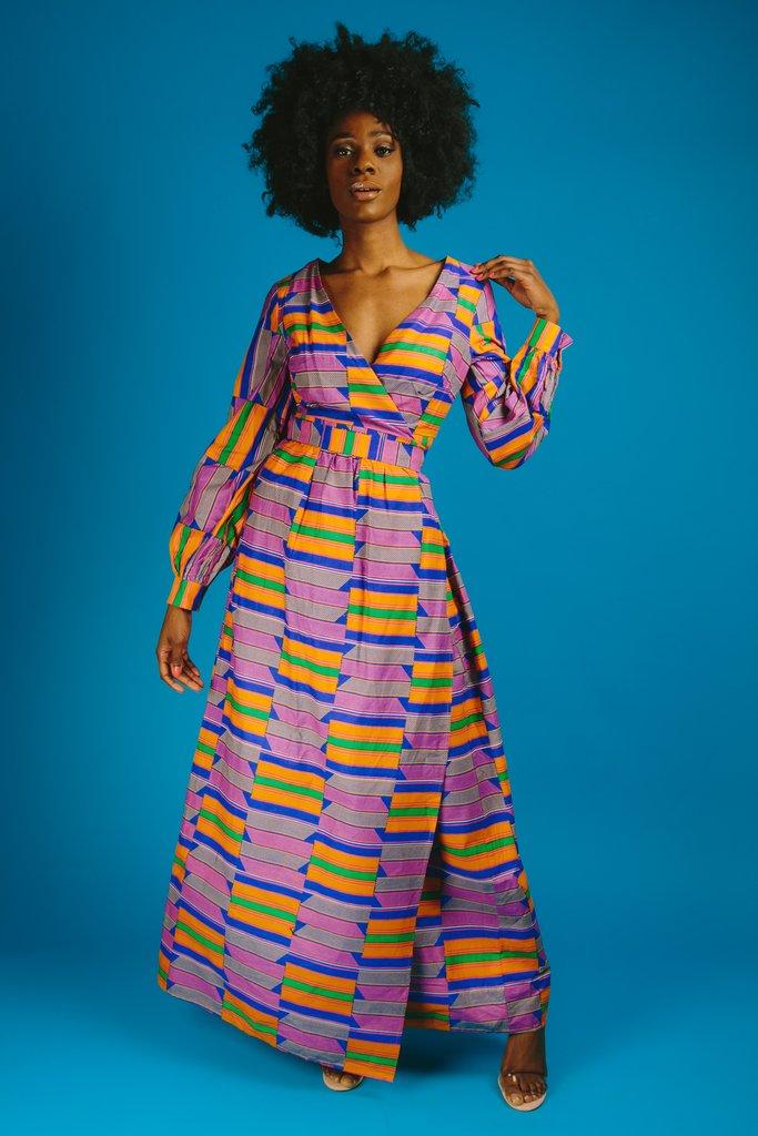 ADA WRAP MAXI DRESS. Ofuure. Was: $200. Now: $90.