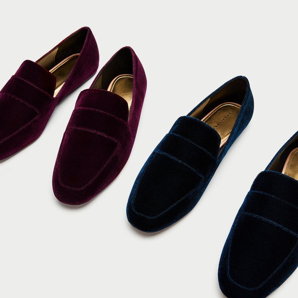 VELVET LOAFERS. Available in multiple colors. Zara. $22.