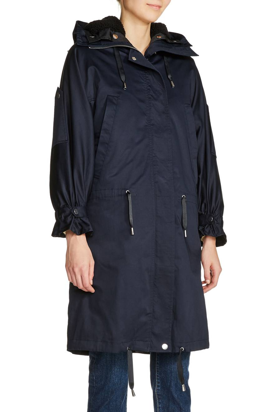 Maje Faux Shearling Lined Long Raincoat. Nordstrom. $760.