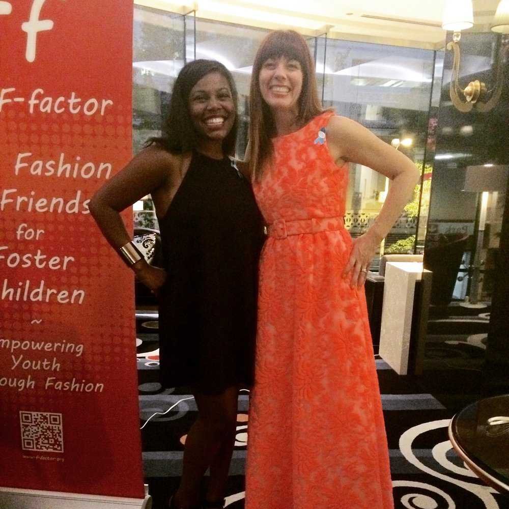 With long time friend and Ruby Room volunteer,  Miracle McLeod - she's on YouTube. I wore this super cool dress from the  Finerie Colab  that felt like brocade.
