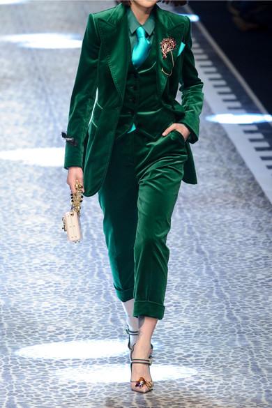 DOLCE & GABBANA Cotton-blend velvet blazer. Was: $2395.Now: $1676.