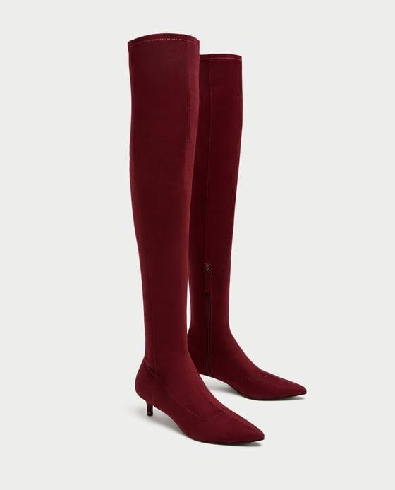 OVER-THE-KNEE HIGH HEEL BOOTS. Zara. $49.