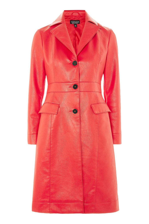 Faux Leather Coat. Topshop. $180.
