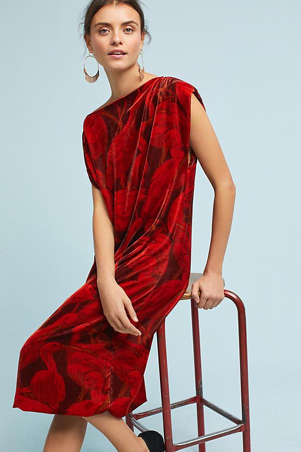 WHITWHIT Velvet Bird Dress. Anthro. $548.