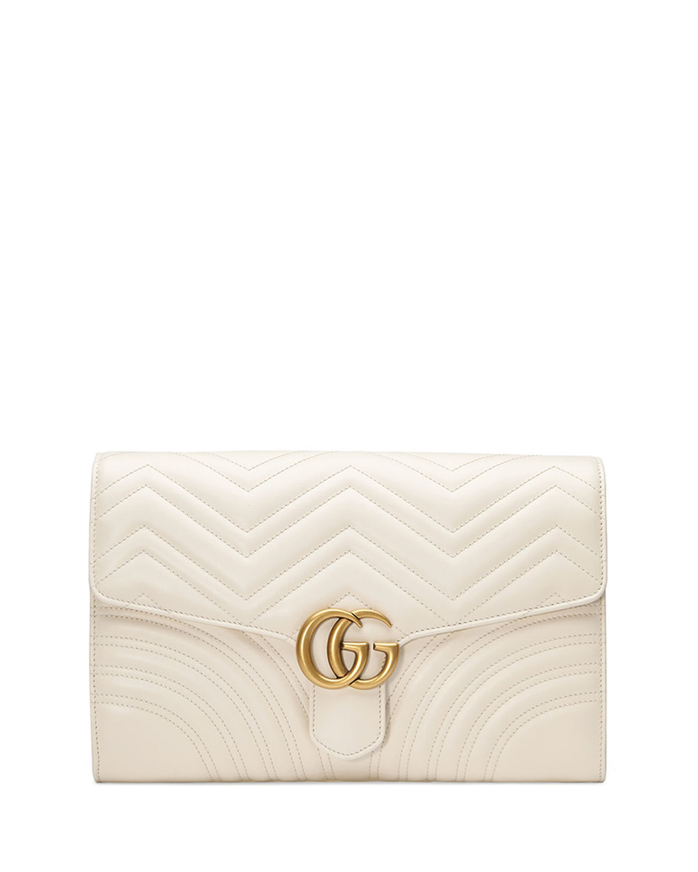 Gucci  GG Marmont Chevron Quilted Leather Flap Clutch Bag. Neiman Marcus. $1,250.