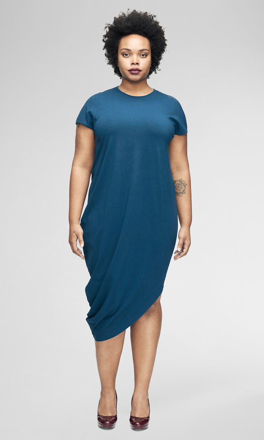 GENEVA DRESS. Available in multiple colors starting at size 10. Universal Standard. $120.