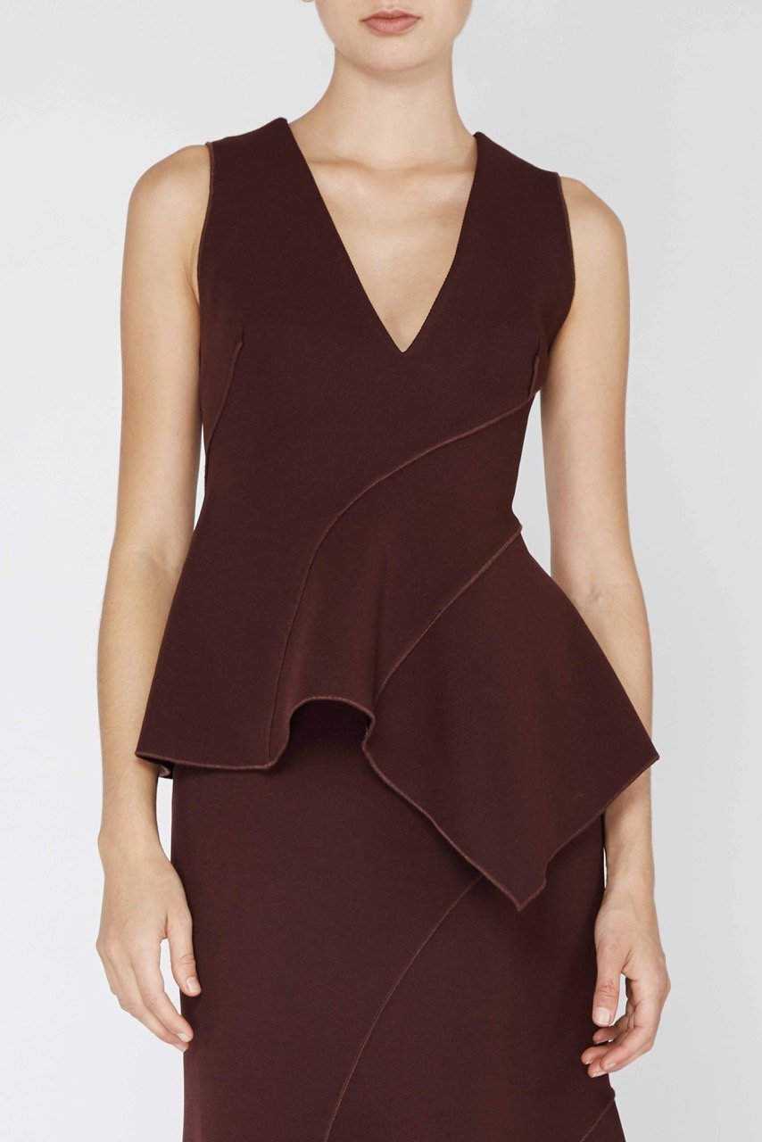 ELGAR TOP. Available in black, wine. Acler. $270. Perfect for minimizing your stomach.