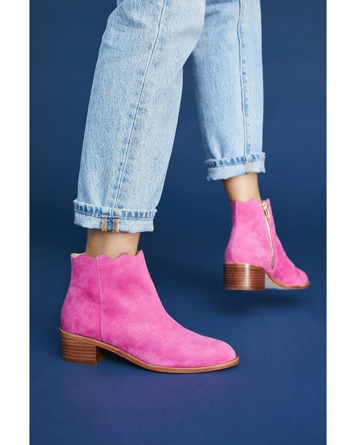 Anthropologie Scalloped Ankle Boots. Anthropologie. $168.00