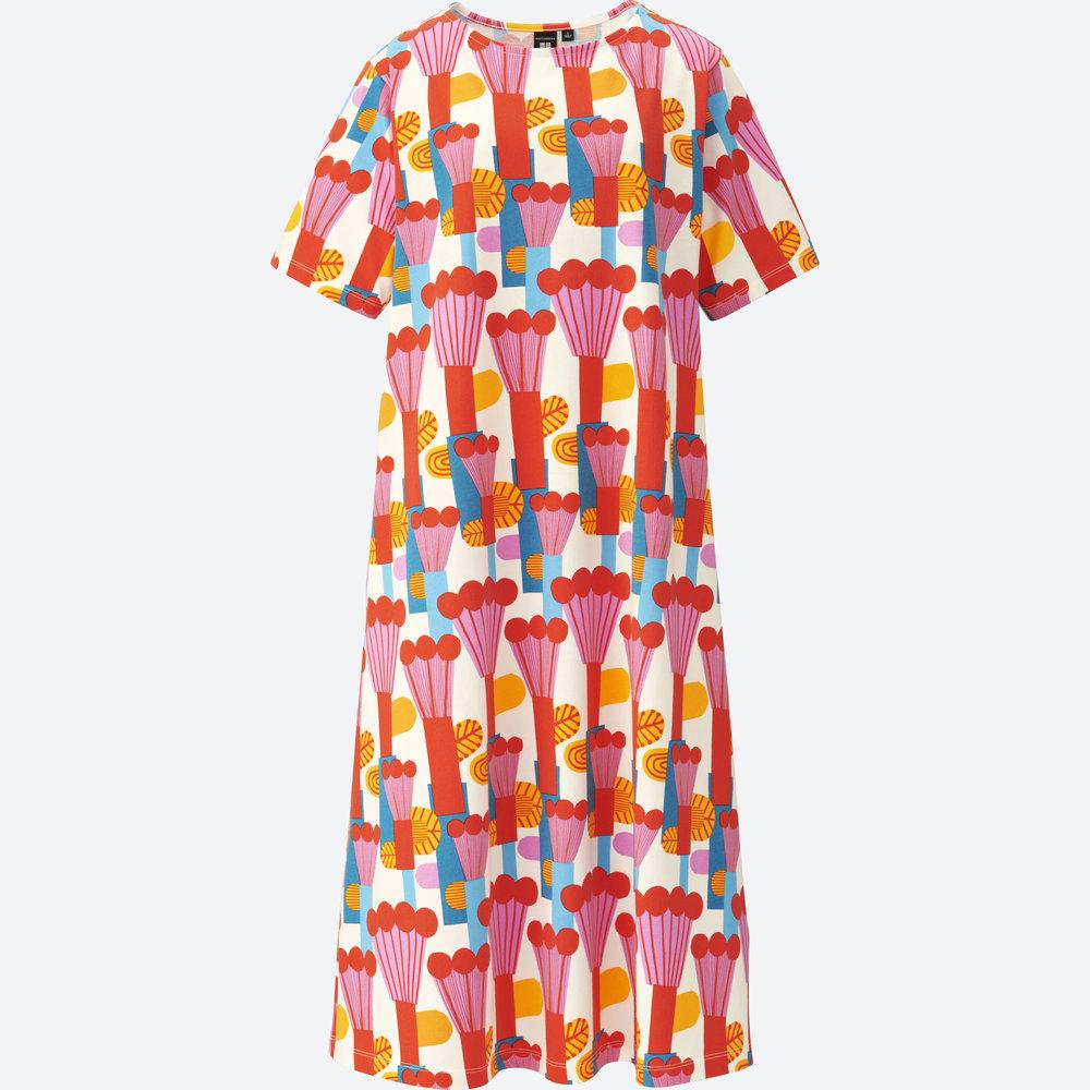 MARIMEKKO SHORT-SLEEVE GRAPHIC DRESS. Uniqlo. $19.