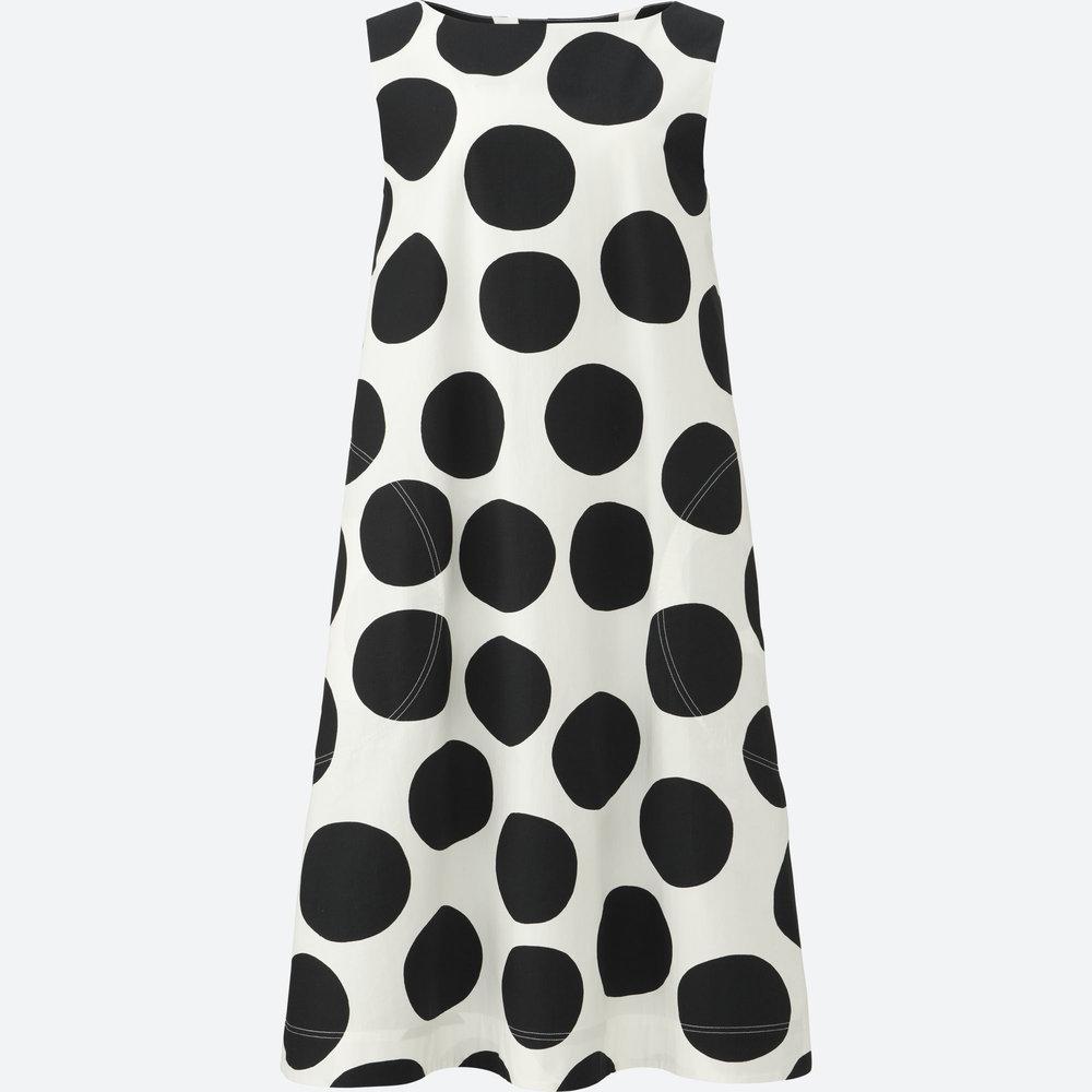 MARIMEKKO SLEEVELESS GRAPHIC DRESS. Uniqlo. $39. Pockets!